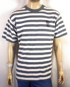 b5f8a36570 vtg 90s retro Bad Boy Club Big Stripe Colorblock Surf T-Shirt Skate punk SZ  L