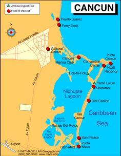cancun mexico map - Google Search