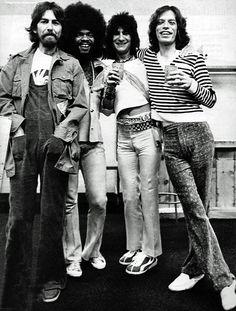 George Harrison,Billy Preston,Ron Wood,Mick Jagger