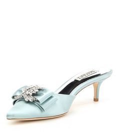 Lurum crystal embellished mule pump pinterest manolo blahnik shop for badgley mischka hagen satin bow and jeweled ornament dress mules at dillards junglespirit Gallery