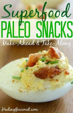 Looking for delicious make-ahead and take-along Paleo Snacks? Check out these twelve super-simple snacks that will nourish your body and keep you full.