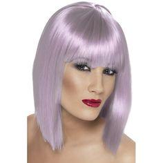Lilac Blunt Bob Glam Wig