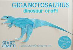 Printable Dinosaur Craft: Giganotosaurus