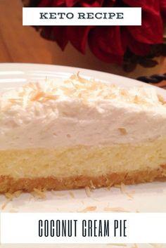Keto Coconut Cream Pie | Low-Carb Coconut Cream Pie Recipe #ketprecipe #cakerecipe #lowcarbrecipe