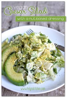 Vegan Caesar Salad to Live For! (nut-based dressing)