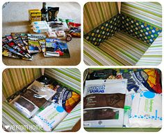 Care Packages | L♥ve From Home - I love the way she decorates the insides of the boxes!