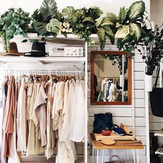 Creative closet space.
