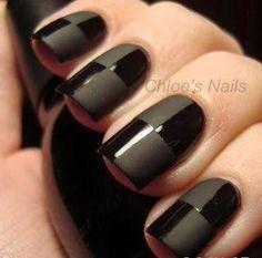 New Years Eve Black Nail Art Inspiration Matte Nail Art, Gloss Matte, Black Nail Art, Black Nails, Matte Black, Matte Pink, Acrylic Nails, Black Nail Designs, Nail Art Designs