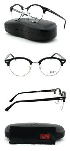 63e784639d72 Ray-Ban RX4246V Unisex Round Eyeglasses Shiny Black Frame 2000 #rayban
