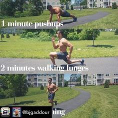 Repost from @bjgaddour using @RepostRegramApp - 1-2-3 SUMMER  SHRED!  1minute pushups 2minutes walking lunges 3minutes running   5-10 non-stop rounds  Slide left to see each move in action. Enjoy  your weekend workout. DOUBLE-TAP if you dig it save it and tag some #swolemates too! #TGIF #Outdoors #Summer #SummerWorkout #BJGaddour #OutdoorWorkout #Running #TGIF #WeekendWorkout # #dcinhometrainer