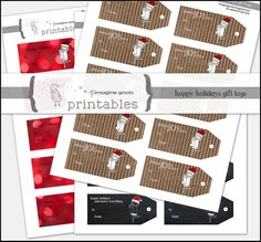 happy holidays gift tags printable by imaginegnats, via Flickr