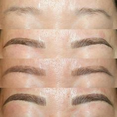 Before / after / healed / after touching up with very oily skin! She actually healed … – microblading Mircoblading Eyebrows, Types Of Eyebrows, Blonde Eyebrows, Permanent Makeup Eyebrows, Eyebrow Brush, Eyebrow Tattoo, Microblading Healing Process, Waxing Tips, Cosmetic Tattoo