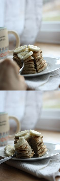 Basic Vegan Pancakes - delicious topped with fruit, nut butter, or maple syrup