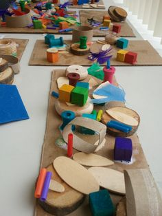 Toddlers invent amazing creations in 3-D. Loose parts love.