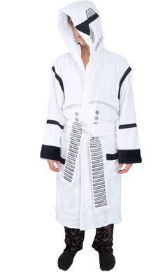 Star Wars - Storm Trooper Bathrobe - Star Wars - Storm Trooper Bathrobe One Size White