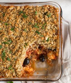 Halloumi Casserole With Crispy Garlic Breadcrumbs from Amuse Your Bouche