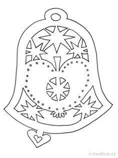Vánoční vystřihovánky do oken | Kirigami, Scroll Saw Patterns, Scroll Design, Christmas Paper Crafts, Christmas Decorations, Paper Cutting Patterns, Paper Lace, Stencil Templates, Stencils