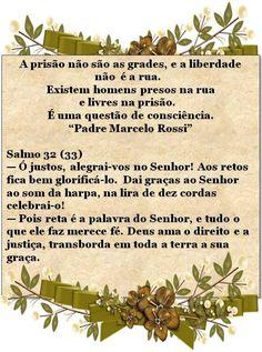 MENSAGEM DO PADRE MARCELO E TRECHO DE SALMO