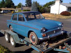 My first car, also blue. the Hillman Sunbeam Minx.