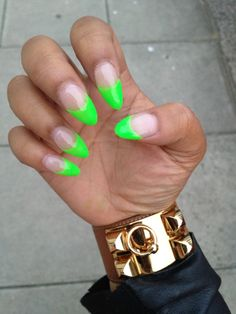 neon tip manicure