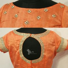 Simple kundan worked blouse with boat neck and shoulder design! For Orders and Queries reach us at 044-42179088 WhatsApp: 9789903599 Address: No.21, Valmiki street, Thiruvanmyur. #kundanwork #simpleblouseembroidery #simpleblousedesigns #blousedesigns #blousework #yuti #YUTIDesignerHouse #blousebyYUTIDesignerhouse