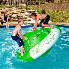 """Saturn Rocker"""" Inflatable The Aviva Saturn Rocker Pool Toy puts a whole new spin on pool fun! Your kids can climb, slide, spin, and lounge the summer away on this durable inflatable for the lake or pool. Water Pool Games, Pool Fun, Pool Water, Cool Pool Floats, Pool Accessories, Strand, Outdoors, Summer Fun, Party Summer"""