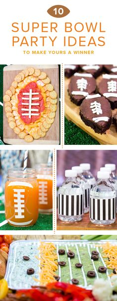 Your Super Bowl will score big with these game day-inspired ideas, from fudgy football-shaped brownies and kid-friendly cheese boards to creamy dips and slow-cooker cocktails. Game Day Snacks, Game Day Food, Tailgate Food, Tailgating, Favorite Chili Recipe, Appetizers For Kids, Football Snacks, Sports Food, Super Bowl