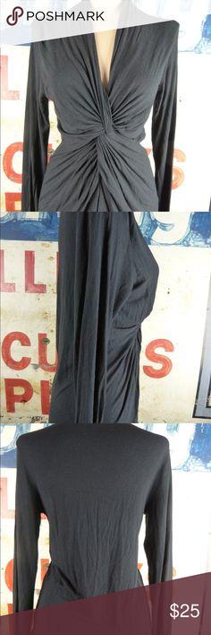 "CAbi Black Top Shirt Size Medium Excellent condition  Rayon blend 27"" length CAbi Tops"