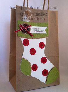 Christmas Stocking Gift Bag by beckcjb - Cards and Paper Crafts at Splitcoaststampers