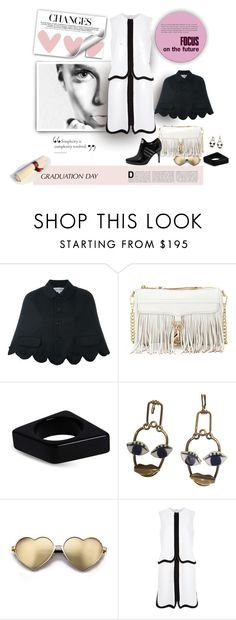 """""""The Future is White & Bright"""" by michelletheaflack ❤ liked on Polyvore featuring Comme des Garçons GIRL, Rebecca Minkoff, Marni, Wildfox, Haute Hippie, adidas, Victoria, Victoria Beckham, polyvorecontests and graduationdaydress"""