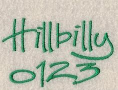 Hillbilly Embroidery Fonts in 3 Sizes by 8clawsandapaw on Etsy https://www.etsy.com/listing/61465037/hillbilly-embroidery-fonts-in-3-sizes