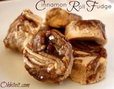 ~Cinnamon Roll Fudge!