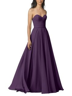 DescriptionWtoo by WattersStyle 903Full length bridesmaid dressSweetheart necklineFull, a-line skirtChiffonLongFrom head to toe you will feel like Cinderella in this gorgeous bridesmaid dress! This chiffon bridesmaid dress features a strapless sweetheart neckline with a full A-line skirt.