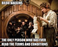 The Hobbit: Bilbo Reads Terms & Conditions