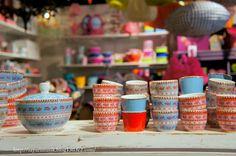 Cute pattern for a children's tea set