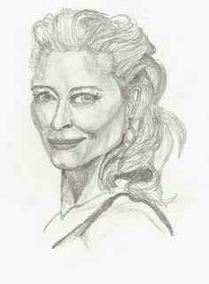 https://flic.kr/p/dMuJfR | Kate Blanchet | small pencil drawing