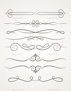 Find Calligraphic Decorative Elements Set Design Elements stock images in HD and millions of other royalty-free stock photos, illustrations and vectors in the Shutterstock collection. Thousands of new, high-quality pictures added every day. Rangoli Borders, Rangoli Border Designs, Frame Border Design, Decorative Lines, Pinstriping Designs, Wood Burning Patterns, Bullet Journal Ideas Pages, Stencil Designs, Line Design