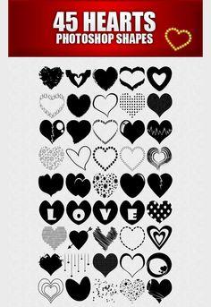 photoshop custom shape Heart