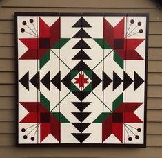 Carolina Lily Barn Quilt on Western Red Cedar Barn Quilt Designs, Barn Quilt Patterns, Quilting Designs, Pattern Blocks, Quilting Projects, Sewing Projects, Garden Projects, Camping 3, Camping Cabins