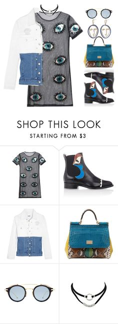 """good life"" by johanna-dn on Polyvore featuring Fendi, Steve J & Yoni P, Dolce&Gabbana and MANGO"