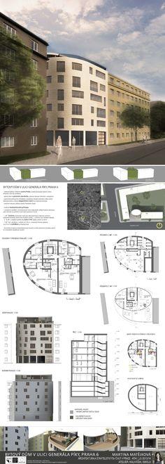 Studentský projekt. LS 2013/2014. FSv ČVUT v Praze. Ideas Para, Buildings, Presentation, Floor Plans, Model, Presentation Board Design, Atelier, Scale Model
