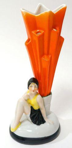 1920s German Art Deco Bathing Beauty Hat Pin Flower Holder Half Doll Related   eBay