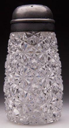 AMERICAN BRILLIANT RUSSIAN CUT GLASS SUGAR SHAKER