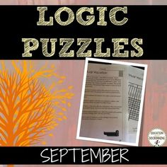 September Logic Puzzles (Great for Fall or Autumn)  is a set of 4…