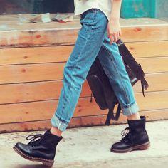 Jeans, Docs, shirt spring