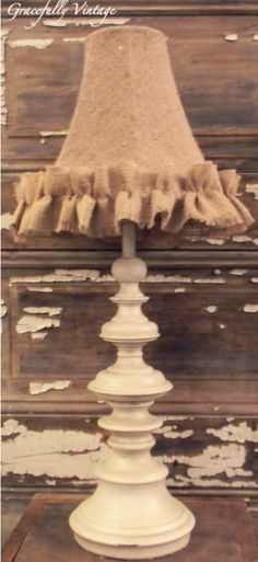 Darling Lamp with Burlap Shade