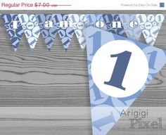 ON #SALE 50 % OFF #1st #birthday #banner #boy printable by ArigigiPixel