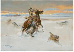 "charlie russell paintings | Charlie Russell's ""The Wolves,"""