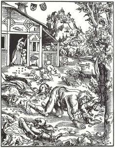 """""""Werewolf"""" by Lucas Cranach the Elder, c. 1512."""