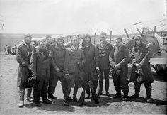 A Flight, No 4 Squadron, Royal Air Force at Clairmarais Aerdrome, 16 June 1918.